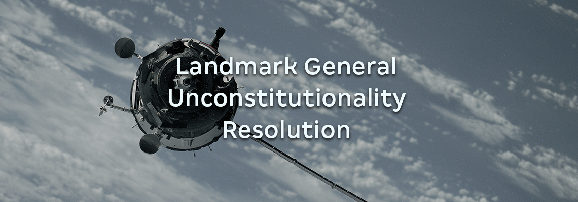 Landmark General Unconstitutionality Resolution